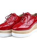 رخيصةأون ملابس ليلية نسائية-أحذية نسائية - مسطحات - المكتب والعمل / كاجوال / رياضية - أسود / أحمر / بيج - أظراف / أصبع مدور - كعب مسطح - جلد