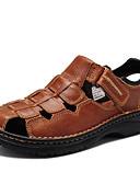 رخيصةأون ملابس داخلية غير مألوفة للرجال-للرجال أحذية Leather نابا ربيع صيف خريف مريح صنادل أحذية الماء إلى فضفاض الأماكن المفتوحة فستان أسود بني فاتح