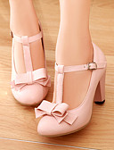 cheap Mother of the Bride Dresses-Women's Leatherette Spring / Summer Chunky Heel Bowknot Beige / Green / Pink / Dress