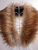 رخيصةأون لفات الزفاف-بدون كم فرو فو حفلة / سهرة / فضفاض Fur Wraps / Fur Accessories / جلد اصطناعي مع ياقة