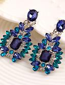 preiswerte Damenmäntel und Trenchcoats-Damen Kristall Tropfen-Ohrringe - Kubikzirkonia Luxus Blau Für