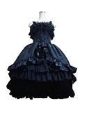 preiswerte Unterröcke für Hochzeitskleider-Gothik Lolita Satin Damen Kleid Cosplay Schwarz Ärmellos Mittlerer Länge Kostüme