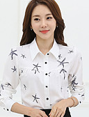 cheap Quartz Watches-Women's Lady Star Print Solid Long Sleeve Plus Size Shirt