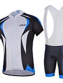 hesapli Gelin Şalları-cheji® Erkek Kısa Kollu Askılı Şortlu Bisiklet Forması - Yeşil Mavi Bisiklet Bisiklet Şortu Forma Giysi Setleri, Hızlı Kuruma,