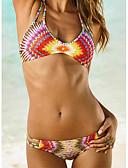 abordables Biquinis y Bañadores para Mujer-Mujer Boho Bikini Geométrico Halter / Sin Soporte / Sujetador Acolchado