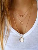 cheap Women's Shirts-Women's Pendant Necklace - Infinity Ladies, European, Simple Style, Fashion Golden Necklace Jewelry For Party, Daily, Casual