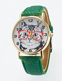 preiswerte Kleideruhr-Damen Armbanduhr Armbanduhren für den Alltag PU Band Charme / Modisch Schwarz / Weiß / Blau / Ein Jahr / Jinli 377