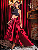 cheap Evening Dresses-A-Line / Two Piece Jewel Neck Asymmetrical Stretch Satin Two Piece Prom / Formal Evening Dress with Beading by TS Couture®