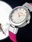 cheap Quartz Watches-Women's Fashion Watch Quartz Japanese Quartz 30 m Leather Band Analog Black / White / Red - Fuchsia Red Blue / Stainless Steel