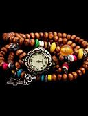 baratos Relógios de Pulseira-Mulheres Relógio de Moda Quartzo Venda imperdível Tecido Banda Analógico Amuleto Marrom - Café Marron