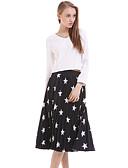 baratos Vestidos de Mulher-Mulheres Solto Vestido Geométrica Médio