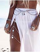ieftine Pantaloni de Damă-Lanț de Talie / Corp lanț / burtă lanț Design Unic, European, Modă Pentru femei Argintiu / Auriu Bijuterii de corp Pentru Nuntă / Casual / Plajă