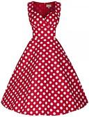 tanie W stylu vintage-Klasyczna Lolita Damskie Sukienka Cosplay Bez rękawów Długość średnia Kostiumy