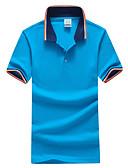 baratos Camisetas & Regatas Masculinas-Homens Tamanhos Grandes Polo - Esportes Estampa Colorida Algodão Colarinho de Camisa