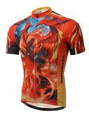 baratos Moda Íntima Exótica para Homens-XINTOWN Homens Manga Curta Camisa para Ciclismo Moto Camisa / Roupas Para Esporte, Secagem Rápida, Resistente Raios Ultravioleta,