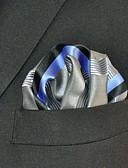 זול עניבות ועניבות פרפר לגברים-עניבת צווארון - פסים קולור בלוק חוטי זהורית בסיסי עבודה בגדי ריקוד גברים