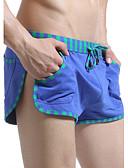 זול תחתונים וגרביים לגברים-מכנסי שחייה קולור בלוק, טלאים - חלקים תחתונים ספורטיבי בגדי ריקוד גברים
