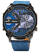 ieftine Ceasuri de Lux-Oulm Ceas Sport Ceas Militar emițători Zone Duale de Timp, Cool Albastru