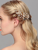 cheap Corsets & Bustiers-Pearl Headwear / Hair Pin with Floral 1pc Wedding / Special Occasion / Casual Headpiece