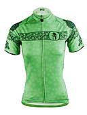 baratos Calcinhas-ILPALADINO Mulheres Manga Curta Camisa para Ciclismo - Verde Moto Camisa / Roupas Para Esporte, Secagem Rápida, Resistente Raios