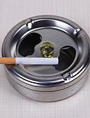 رخيصةأون هدايا سلاسل مفاتيح للحضور-التدخين العملي الفولاذ المقاوم للصدأ منفضة سجائر غطاء دوران إغلاقا كاملا الأدوات المنزلية
