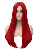 tanie Odzież nocna damska-Peruki syntetyczne Prosta Włosie synetyczne Czerwony Peruka Damskie Długie Bez czepka Czerwony