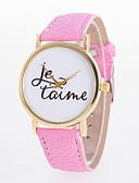 baratos Relógios da Moda-Mulheres Relógio de Pulso Relógio Casual PU Banda Amuleto / Casual / Fashion Preta / Branco / Azul / Um ano / Jinli 377