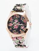 preiswerte Armband-Uhren-Damen Armbanduhr Armbanduhren für den Alltag Silikon Band Blume / Freizeit / Modisch Mehrfarbig / Ein Jahr / Tianqiu 377