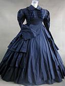 preiswerte Herren Blazer & Anzüge-Viktorianisch / Mittelalterlich Kostüm Damen Kleid / Party Kostüme / Maskerade Vintage Cosplay Spitze / Baumwolle Langarm Normallänge