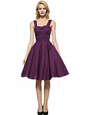 cheap Women's Lingerie-Women's Plus Size Vintage Cotton A Line Dress - Solid Colored Strap
