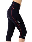 billige Kjoler i plus størrelser-TASDAN Dame Cykling 3/4 tights Cykel Shorts / 3/4 Tights / Forede shorts 3D Måtte, Hurtigtørrende, Åndbart Ensfarvet Nylon, Coolmax®,