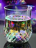 baratos Aço Inoxidável-Led flash light uísque tiro bebida copo de vidro piscando cerveja bar partido casamento clube decoração presente