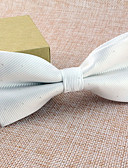 cheap Men's Ties & Bow Ties-Men's Party / Basic Bow Tie - Solid Colored / Beige / Black / Silver / White / Yellow