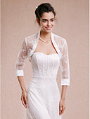 cheap Wedding Wraps-Lace Wedding Party Evening Women's Wrap With Lace Shrugs