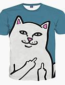 baratos Camisetas & Regatas Masculinas-Homens Tamanhos Grandes Camiseta-Esportes Estampado