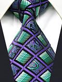 abordables Corbatas y Pajaritas para Hombre-Hombre Básico Corbata - Fiesta / Trabajo Bloques / Cuadrícula / Jacquard