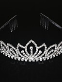 cheap Wedding Dresses-Alloy Tiaras / Headwear with Floral 1pc Wedding / Special Occasion Headpiece