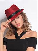 baratos Chapéus de Moda-Mulheres Fofo Fedora Sólido