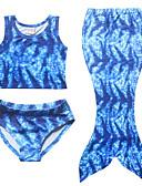 Χαμηλού Κόστους Μαγιό για κορίτσια-Νήπιο Κοριτσίστικα Παραλία Συνδυασμός Χρωμάτων Αμάνικο Πολυεστέρας Μαγιό Μπλε