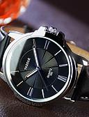 abordables Relojes de Vestir-YAZOLE Hombre Reloj de Pulsera Noctilucente / Reloj Casual Piel Banda Encanto / Reloj de Vestir Negro / Marrón / SSUO 377