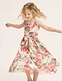 olcso Kislány ruhák-Lány Virágos Ujjatlan Ruha
