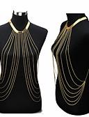 זול 2017ביקיני ובגדי ים-פרנזים שרשרת בטן / שרשרת גוף / בטן שרשרת / רתמתי שרשרת - ציפוי זהב צִיצִית, ארופאי, ביקיני בגדי ריקוד נשים מוזהב תכשיטי גוף עבור Party / יומי / קזו'אל