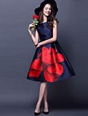 abordables Vestidos de Mujer-Mujer Tallas Grandes Vintage Línea A Vestido - Floral, Floral Tiro Alto Escote Barco