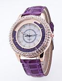 baratos Relógios da Moda-Mulheres Relógio de Pulso Relógio Casual PU Banda Com Pérolas / Fashion Preta / Branco / Azul