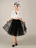 cheap Wedding Slips-Wedding Special Occasion Slips Polyester Tulle Knee-Length Ball Gown Slip with
