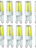 billiga Damklänningar-10pcs 2W 200-250lm G9 LED-lampor med G-sockel T 4LED LED-pärlor COB Bimbar Vattentät Dekorativ Varmvit Kallvit Naturlig vit 110-130V