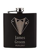 olcso Esküvői ajándékok-Személyre szabott Rozsdamentes acél Bárkellékek és üvegek Flaska Vőlegény Násznagy Pár Szülők Esküvő Születésnap Szerető