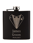 cheap Wedding Gifts-Personalized Stainless Steel Barware & Flasks Hip Flasks Groom Groomsman Couple Parents Wedding Birthday Valentine