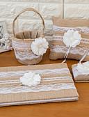 baratos Chaveiros de Lembrancinha-Tema Asiático Férias Tema Clássico Conjunto de Cerimônia de Casamento Presentes Outros Com Dados Fitas Linho Outros