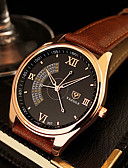 cheap Sport Watches-YAZOLE Men's Wrist Watch Casual Watch Leather Band Charm / Dress Watch Black / Brown / SSUO 377